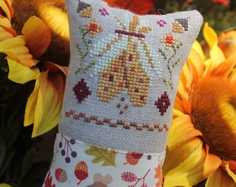 Counted Cross Stitch Pattern, Little Fall Fling, Corn, Bittersweet, Autumn Decor, Fall Decor, Inspirational, Luhu Stitches, PATTERN ONLY