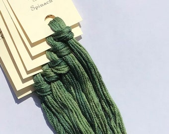 Classic Colorworks, Spinach, CCT-029, 5 YARD Skein, Hand Dyed Cotton, Embroidery Floss, Counted Cross Stitch, Hand Embroidery