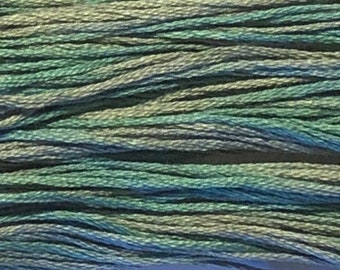 Weeks Dye Works, Blue Fescue, WDW-2116, 5 YARD Skein, Cotton Floss, Embroidery Floss, Counted Cross Stitch, Hand Embroidery, PunchNeedle