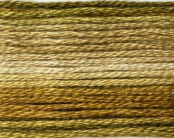 Cosmo, 6 Strand Cotton Floss, SE80-8035,  Seasons Variegated Embroidery Thread, Browns, Punch Needle, Embroidery, Sewing Accessory