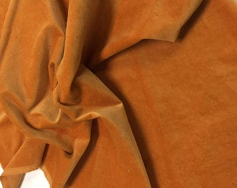 Velveteen, Yams, Orange Velveteen, Hand Dyed Velveteen, Cotton Velveteen, Finishing Fabric, Velveteen Fabric, Lady Dot Creates