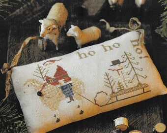 Counted Cross Stitch Pattern, Snow for Christmas, Christmas Decor, Santa, Snowman, Sheep, Primitive Decor, Brenda Gervais, PATTERN ONLY