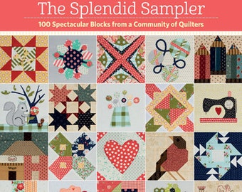 Quilt Book, The Splendid Sampler, Quilt Patterns, Sampler Quilt, Patchwork Quilt, Applique Quilt, Paper Pieced, Pat Sloan, Jane Davidson