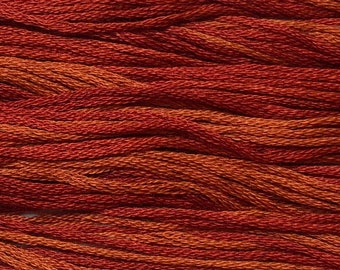 Classic Colorworks, Chili Pepper, CCT-167, 5 YARD Skein, Hand Dyed Cotton, Embroidery Floss, Counted Cross Stitch,Hand Embroidery Thread