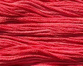 Classic Colorworks, Cherry Tomato, CCT-034, 5 YARD Skein, Hand Dyed Cotton, Embroidery Floss, Counted Cross Stitch, Embroidery Thread