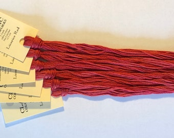 Classic Colorworks, Licorice Red, CCT-228, 5 YARD Skein, Hand Dyed Cotton, Embroidery Floss, Counted Cross Stitch, Embroidery Thread