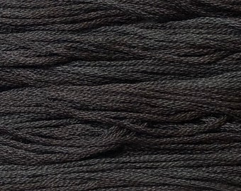 Classic Colorworks, Black Coffee, CCT-04, 5 YARD Skein, Hand Dyed Cotton, Embroidery Floss, Counted Cross Stitch,Hand Embroidery Thread