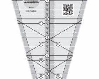 Quilt Ruler, Creative Grids 30 Degree Triangle, Starburst Acrylic Ruler, Creative Grids, It's Sew Emma, CGRISE30, FREE PATTERN Included