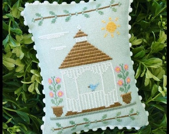 Counted Cross Stitch, Main Street Gazebo, Cottage Decor, Main Street Series #3, Country Cottage Needleworks, PATTERN ONLY