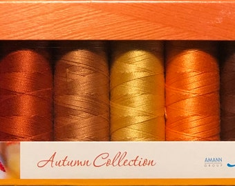 Mettler Thread, Autumn Collection, Silk Finish Cotton, Thread Set, Embroidery Thread, Sewing Thread, Quilting Thread, Hand Sewing Thread