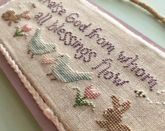 Counted Cross Stitch Pattern, Spring Doxology, Scriptural Sampler, Inspirational, Rabbit Valley Studio, PATTERN ONLY