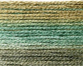Cosmo, 6 Strand Cotton Floss, SE80-8049,  Seasons Variegated Thread, Blues Browns, Thread, Punch Needle, Embroidery, Sewing Accessory