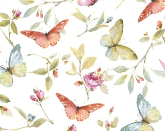 Quilt Fabric, Beautiful Romance, Butterflies & Blossoms, 100% Cotton, Quilters Cotton, Home Dec, Premium Cotton, Lisa Audit, David Textiles