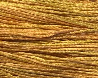 Weeks Dye Works, Peach, WDW-1131, 5 YARD Skein, Hand Dyed Cotton, Embroidery Floss, Counted Cross Stitch, Embroidery, Over Dyed Cotton
