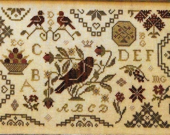 Counted Cross Stitch Pattern, Quaker Handework, Quaker Inspired, Cross Stitch Sampler, Primitive Decor, Brenda Gervais, PATTERN ONLY