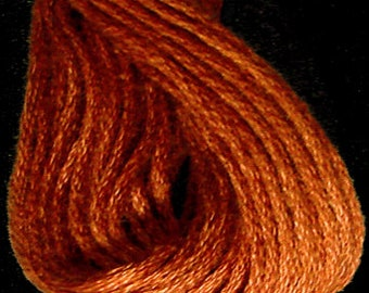 Valdani, 6 Strand Cotton Floss, 863, Faded Rust Dark, Embroidery Floss, Variegated Floss, Hand Dyed Floss, Wool Applique, Punch Needle