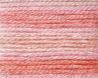 Cosmo, 6 Strand Cotton Floss, SE80-8005,  Seasons Variegated Embroidery Thread, Pinks, Punch Needle, Embroidery, Sewing Accessory