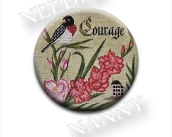 Needle Minder, Cottage Garden, Courage, Needle Nannies, Rare Earth Magnet, Zappy Dots, Needle Nanny, Needle Holder, Rose Breasted Grosbeak