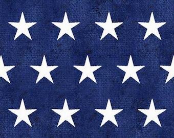 Quilt Fabric, American Spirit, Blue Stars, Patriotic Fabric, Americana, Cotton, Quilter Cotton, Premium Cotton, Beth Albert Fabric