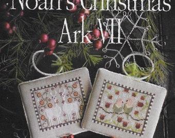 Counted Cross Stitch Pattern, Noah's Christmas Ark, Llamas Ornament, Lovebirds Ornament, Christmas Decor, Plum Street Sampler, PATTERN ONLY