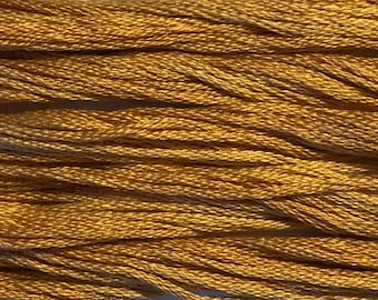 Classic Colorworks, Peanut Brittle, CCT-185, 5 YARD Skein, Hand Dyed Cotton, Embroidery Floss, Counted Cross Stitch, Embroidery Thread