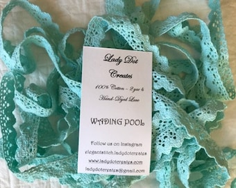 Cotton Lace Trim, Wading Pool, Lady Dot Creates, Hand Dyed Lace, Cotton Lace, Brown Lace, Sewing Notion, Sewing Accessory, Sewing Trim