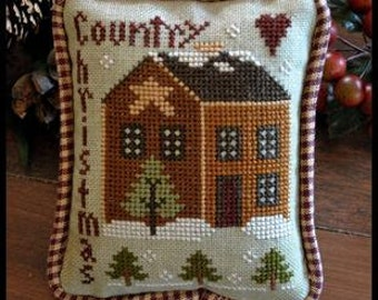 Counted Cross Stitch Pattern, Country Christmas, Christmas Ornament, Country Ornament, Christmas, Little House Needleworks, PATTERN ONLY