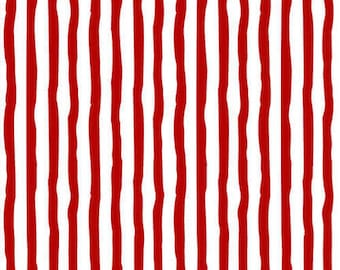 Flannel Fabric, Winter Whimsy, Red Stripe, Striped Flannel, Winter Flannel, Cotton Flannel, Quilting Flannel, Shelly Comiskey, Henry Glass
