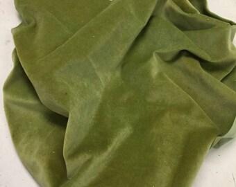 Velveteen, Pea Pod, Green Velveteen, Hand Dyed Velveteen, Cotton Velveteen, Finishing Fabric, Velveteen Fabric, Lady Dot Creates