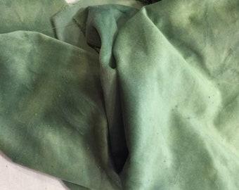 Velveteen, String Bean, Green Velveteen, Hand Dyed Velveteen, Cotton Velveteen, Finishing Fabric, Velveteen Fabric, Lady Dot Creates