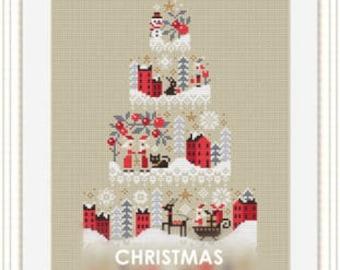 Counted Cross Stitch Pattern, Christmas Cake, Santa, Christmas Decor, Winter Village, Snowmen, Ornaments, Barbara Ana Designs, PATTERN ONLY