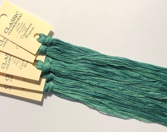 Classic Colorworks, Caribbean Waters, CCT-050, 5 YARD Skein, Hand Dyed Cotton, Embroidery Floss, Counted Cross Stitch, Punch Needle