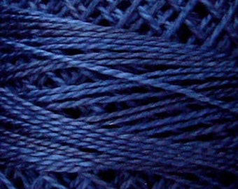 Valdani Thread, Size 8, O515, Perle Cotton, Midnight Blue, Punch Needle, Embroidery, Penny Rugs, Primitive Stitching, Sewing Accessory
