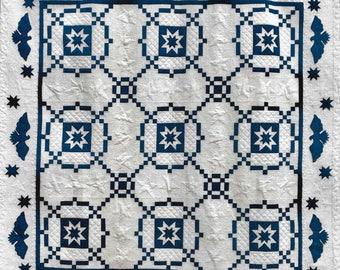 Quilt Pattern, United We Stand, Pieced Quilt, Americana, Lap Quilt, Primitive Decor, Patriotic Decor, ThimbleCreek Quilts, PATTERN ONLY