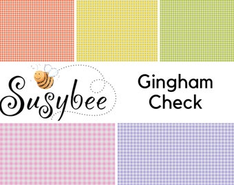 Quilt Fabric, Gingham Check, Gingham Fabric, Quilters Cotton, Mini Gingham, Check Fabric, World of Susybee, Clothworks