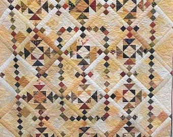 Quilt Pattern, Dinah's Delight, Iowa Star Designs, Aunt Dinah's Quilt Block, Patchwork Quilt, Baby Quilt Pattern, Lap Quilt, PATTERN ONLY