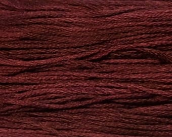 Weeks Dye Works, Brick, WDW-1331, 5 YARD Skein, Hand Dyed Cotton, Embroidery Floss, Counted Cross Stitch, Hand Embroidery, Over Dyed Cotton