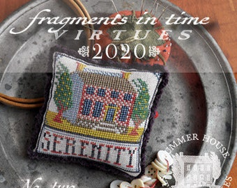 Counted Cross Stitch, Fragments in Time 2020, No 2 Serenity, Cross Stitch Pattern, Virtues Series, Summer House Stitche Workes, PATTERN ONLY