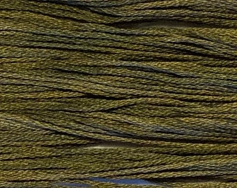 Weeks Dye Works, Garrison Green, WDW-1265, 5 YARD Skein, Hand Dyed Cotton, Embroidery Floss, Counted Cross Stitch, Embroidery, PunchNeedle