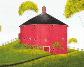 Counted Cross Stitch, The Shelburne Barn, Cross Stitch Patterns,  Primitive Decor, Rustic Decor, Folk Art, Warren Kimble, PATTERN ONLY