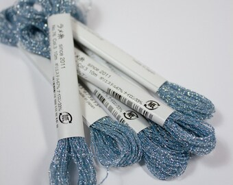 Cosmo, Sparkle Floss, 76-3,  Single Strand Metallic Floss, Sparkle Blue, Embroidery Floss, Stitchery, Decorative Stitching, Sewing Accessory