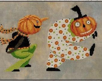 Counted Cross Stitch Pattern, Fabulous Monsters, Halloween Cross Stitch, Pumpkin, Halloween Decor, Teresa Kogut, PATTERN ONLY