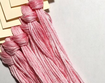 Classic Colorworks, Pink Posey, CCT-173, 5 YARD Skein, Hand Dyed Cotton, Embroidery Floss, Counted Cross Stitch, Punch Needle
