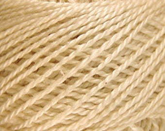 Valdani Thread, Size 8, 006, Perle Cotton, Natural, Punch Needle, Embroidery, Penny Rugs, Primitive Stitching, Sewing Accessory