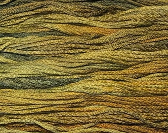 Gentle Art, Sampler Threads, Tortoise Shell, #1194, 10 YARD Skein, Embroidery Floss, Counted Cross Stitch, Hand Embroidery Thread