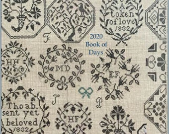Soft Cover Book, 2020 Book of Days, Planner, Stitching Planner, Project Calendar, Quaker Motifs, Needlework Planner, Needle Work Press