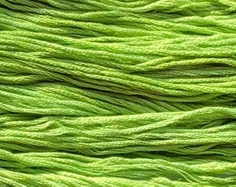 Gentle Art, Sampler Threads, Spring Grass, #0180, 10 YARD Skein, Embroidery Floss, Counted Cross Stitch, Hand Embroidery Thread