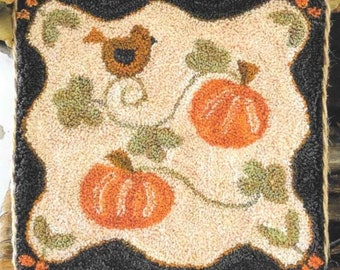 Punch Needle Pattern, Country Pumpkins, Country Decor, Fall Decor, Primitive, Punch Needle Patterns, Little House Needleworks, PATTERN ONLY