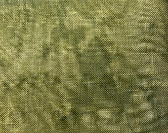 32 Count Linen, Spanish Moss, Linen, Counted Cross Stitch, Cross Stitch Fabric, Embroidery Fabric, Linen Fabric, Fabrics by Stephanie