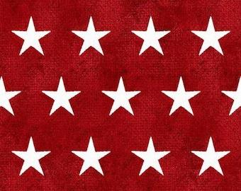 Quilt Fabric, American Spirit, Red Stars, Patriotic Fabric, Americana, Cotton, Quilter Cotton, Premium Cotton, Beth Albert Fabric